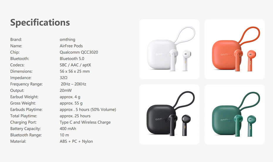 1MORE Omthing Airfree Pods 16