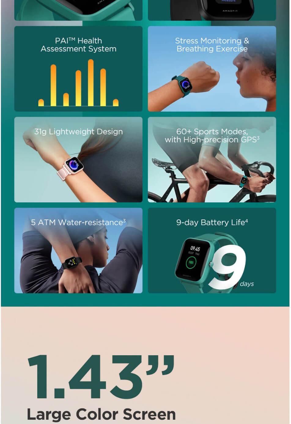 Amazfit Bip U Smart Watch 2