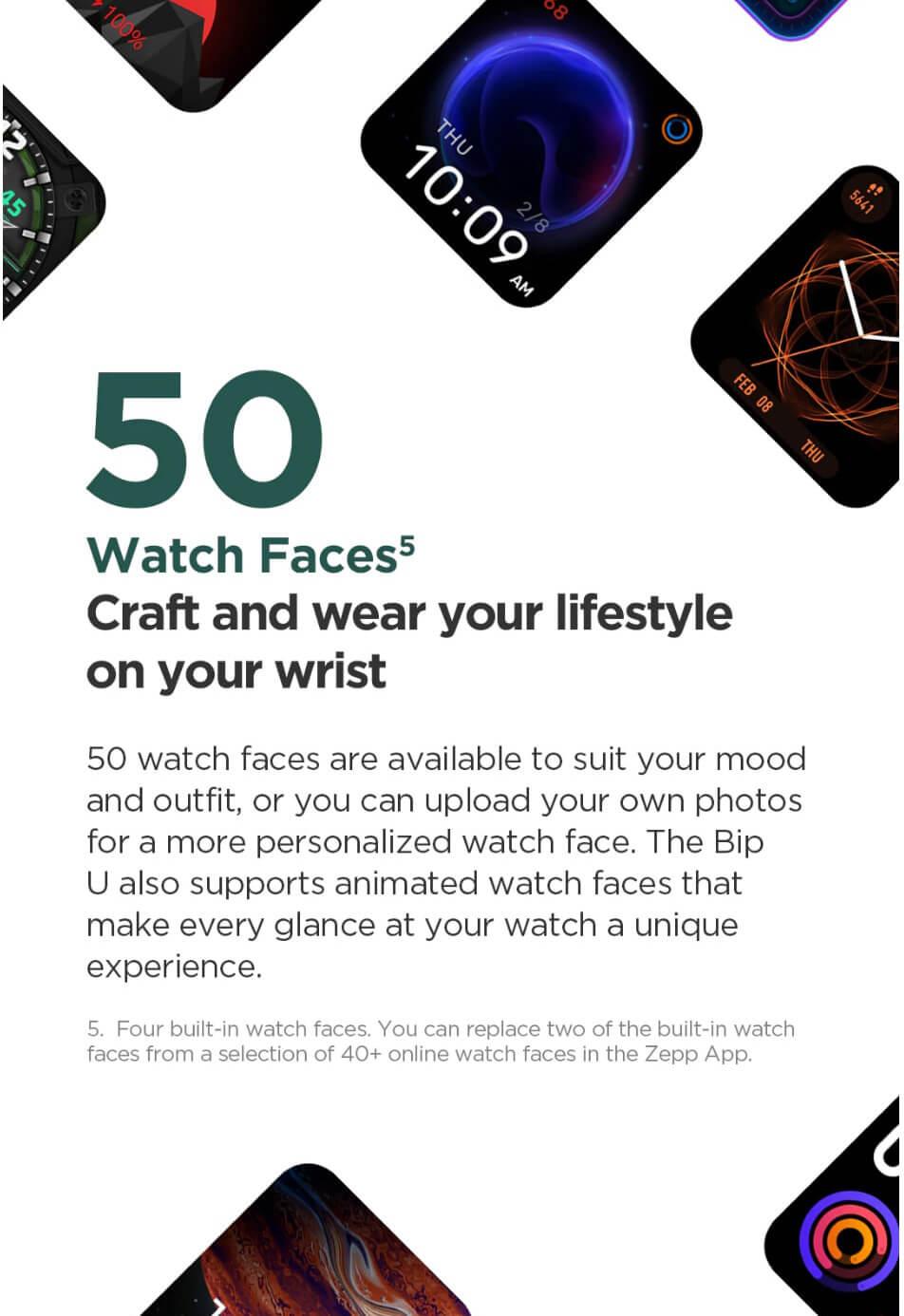 Amazfit Bip U Smart Watch 4