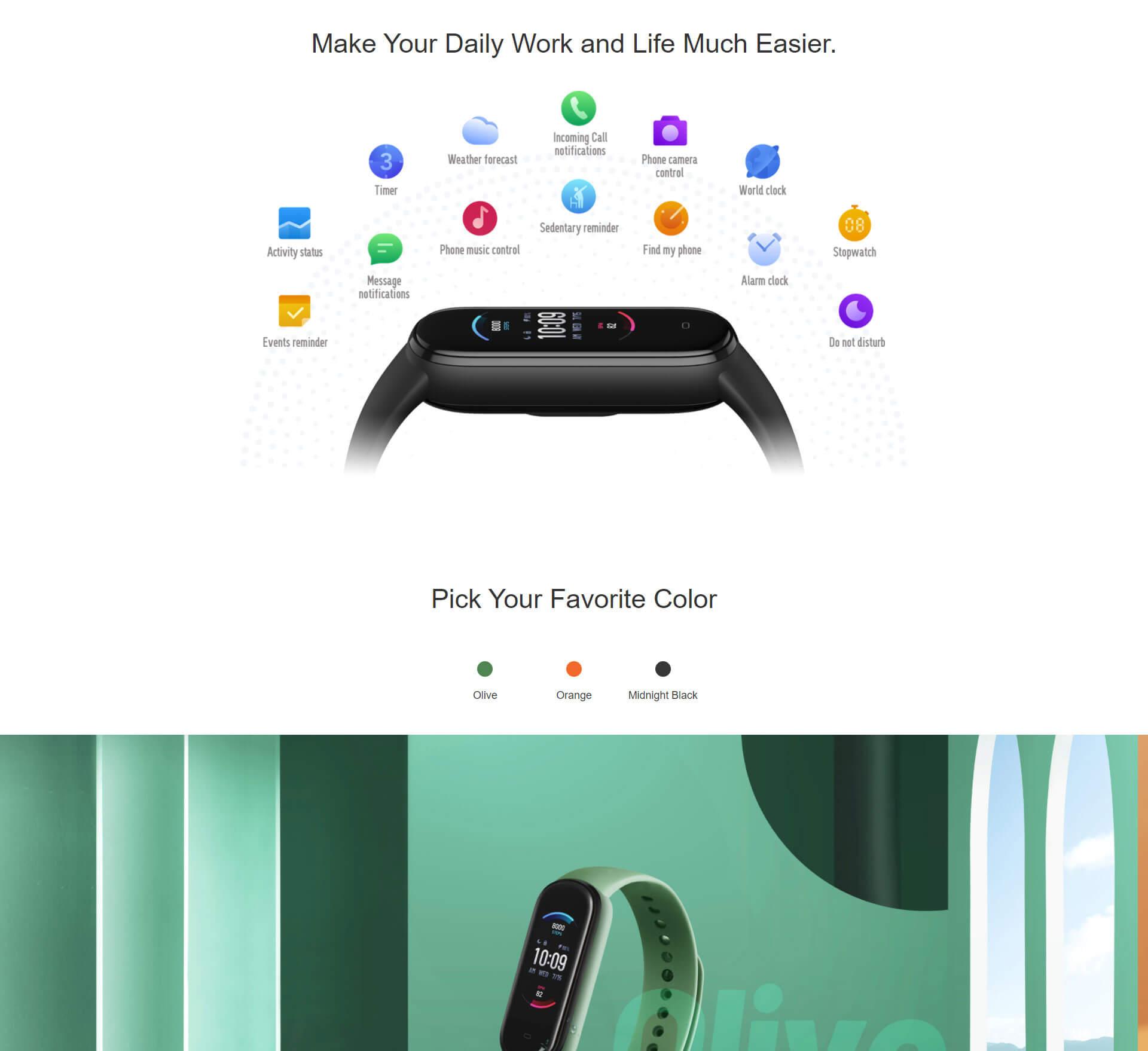 Xiaomi Amazfit Band 5 1 9