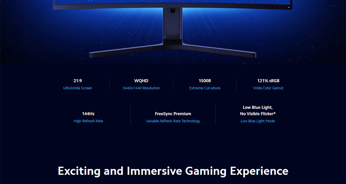 Xiaomi Curved Gaming Monitor 2