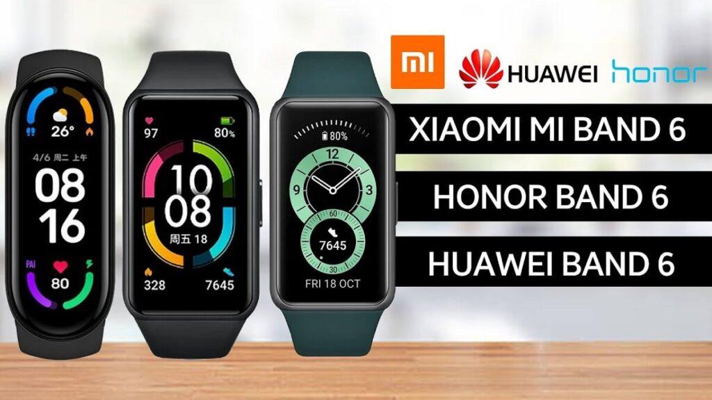 Xiaomi Mi Band 6 vs Huawei Band 6 vs Honor Band 6 1