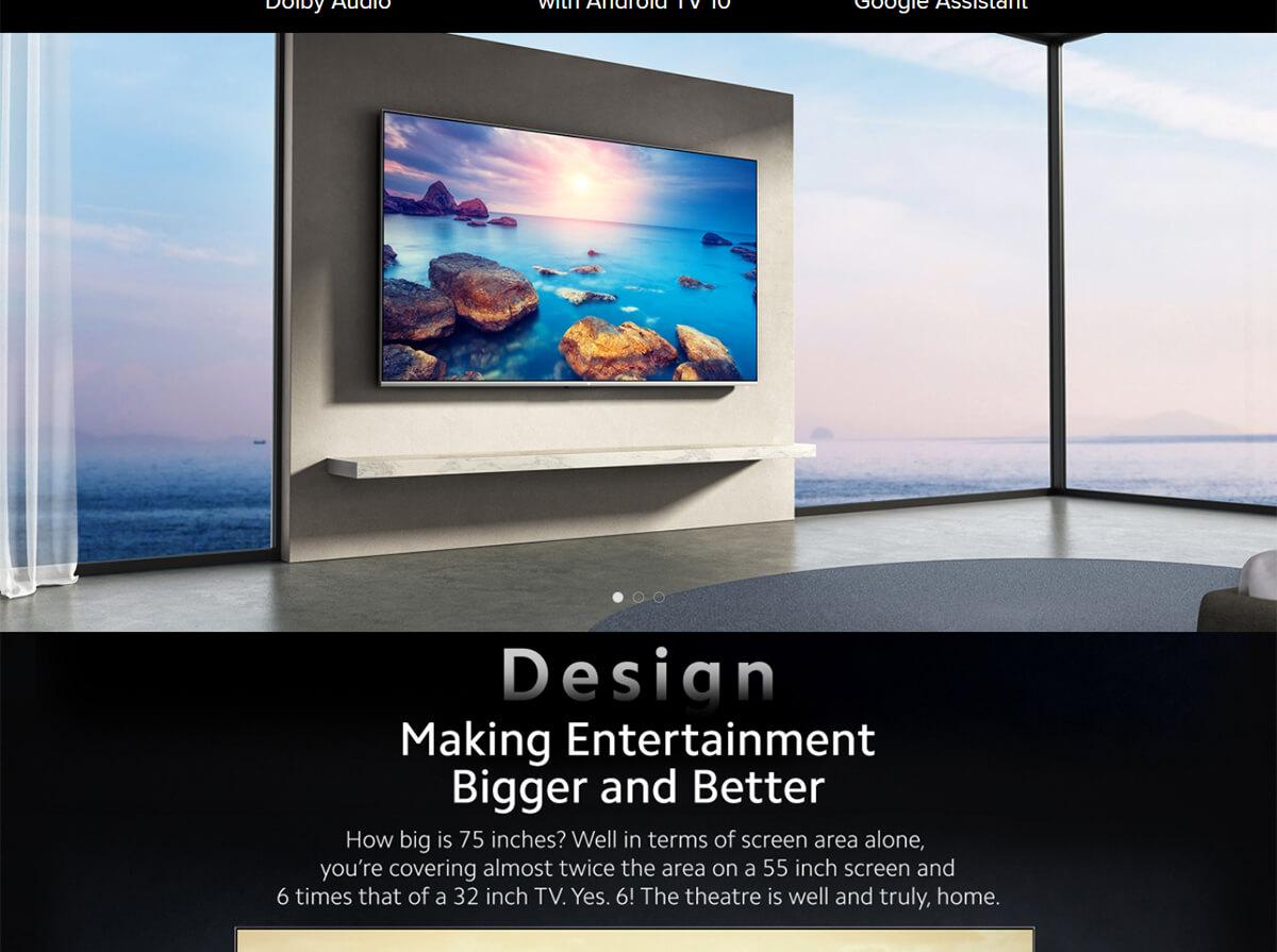 تلویزیون 75 اینچ شیائومی مدل Mi TV Q1 75