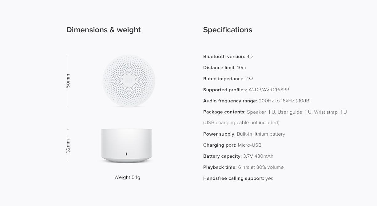 Xiaomi Mi Compact Bluetooth Speaker 2 10
