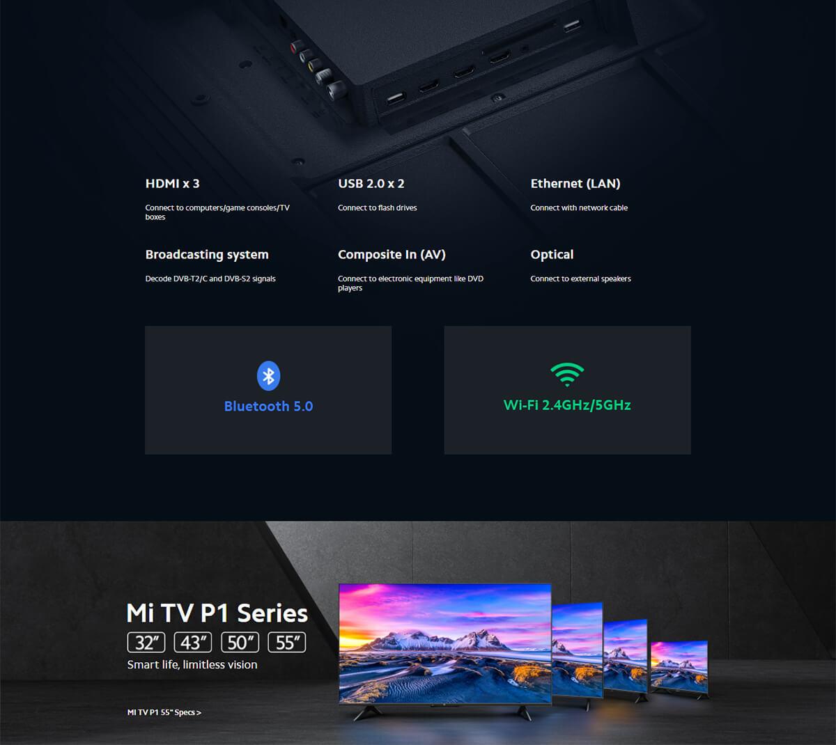 Xiaomi Mi Tv P1 55inch 10