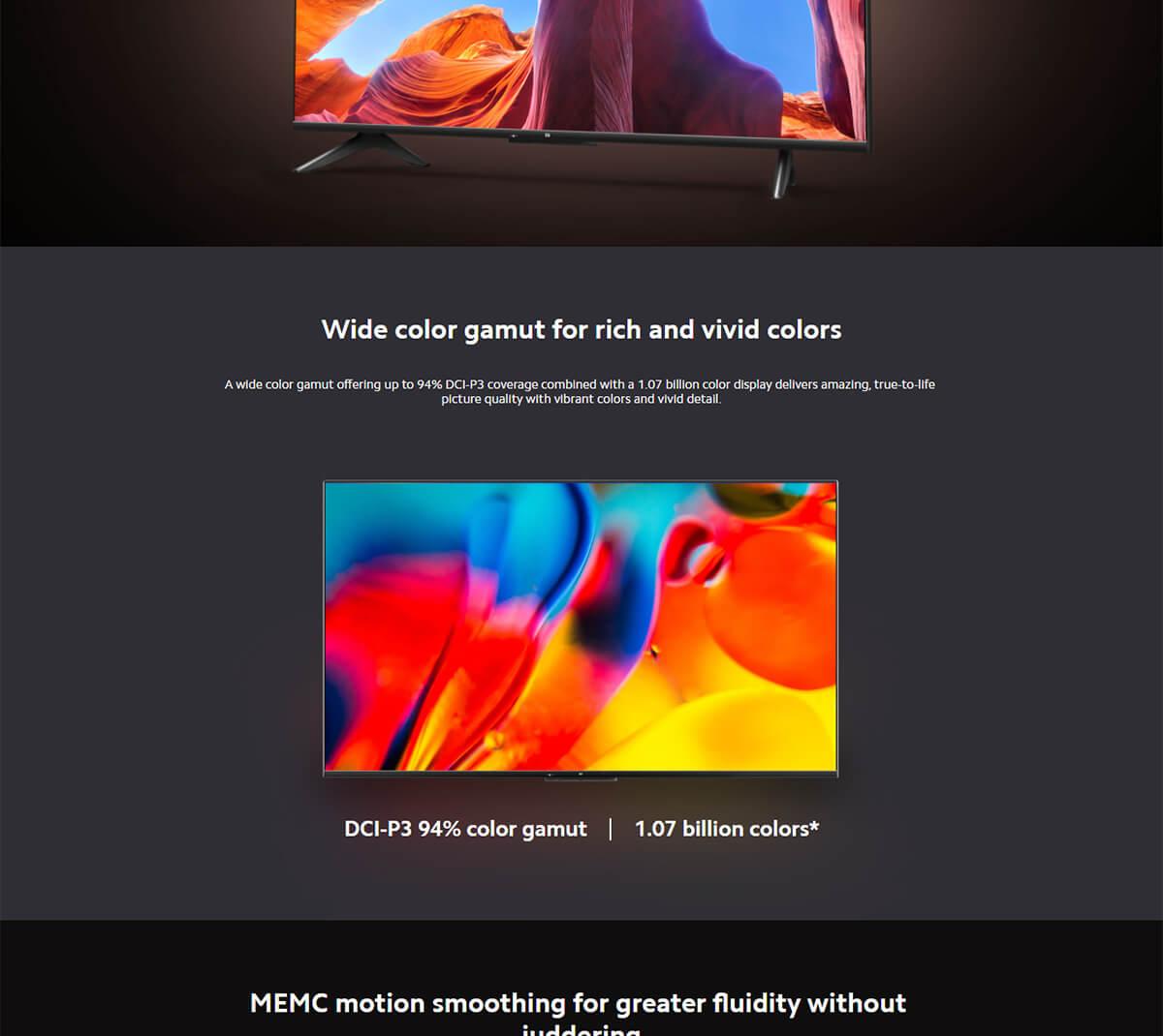 Xiaomi Mi Tv P1 55inch 4