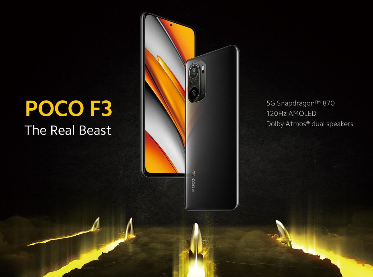 گوشی شیائومی مدل Poco F3 ظرفیت 8/256 گیگابایت