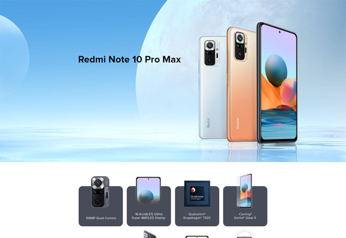گوشی شیائومی مدل Redmi Note 10 Pro Max