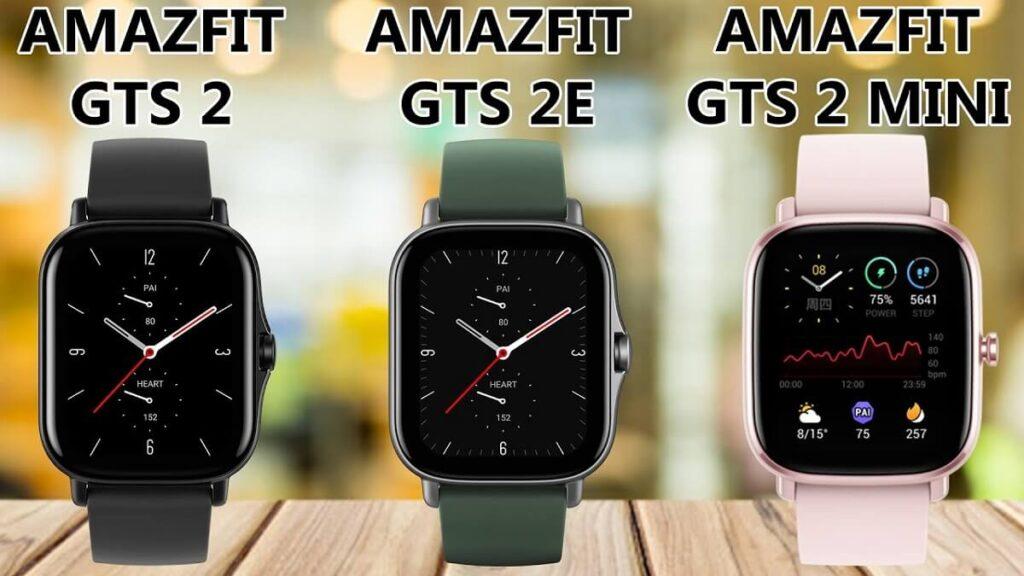 amazfit gts 2 vs amazfit gts 2e vs amazfit gts 2 mini 4