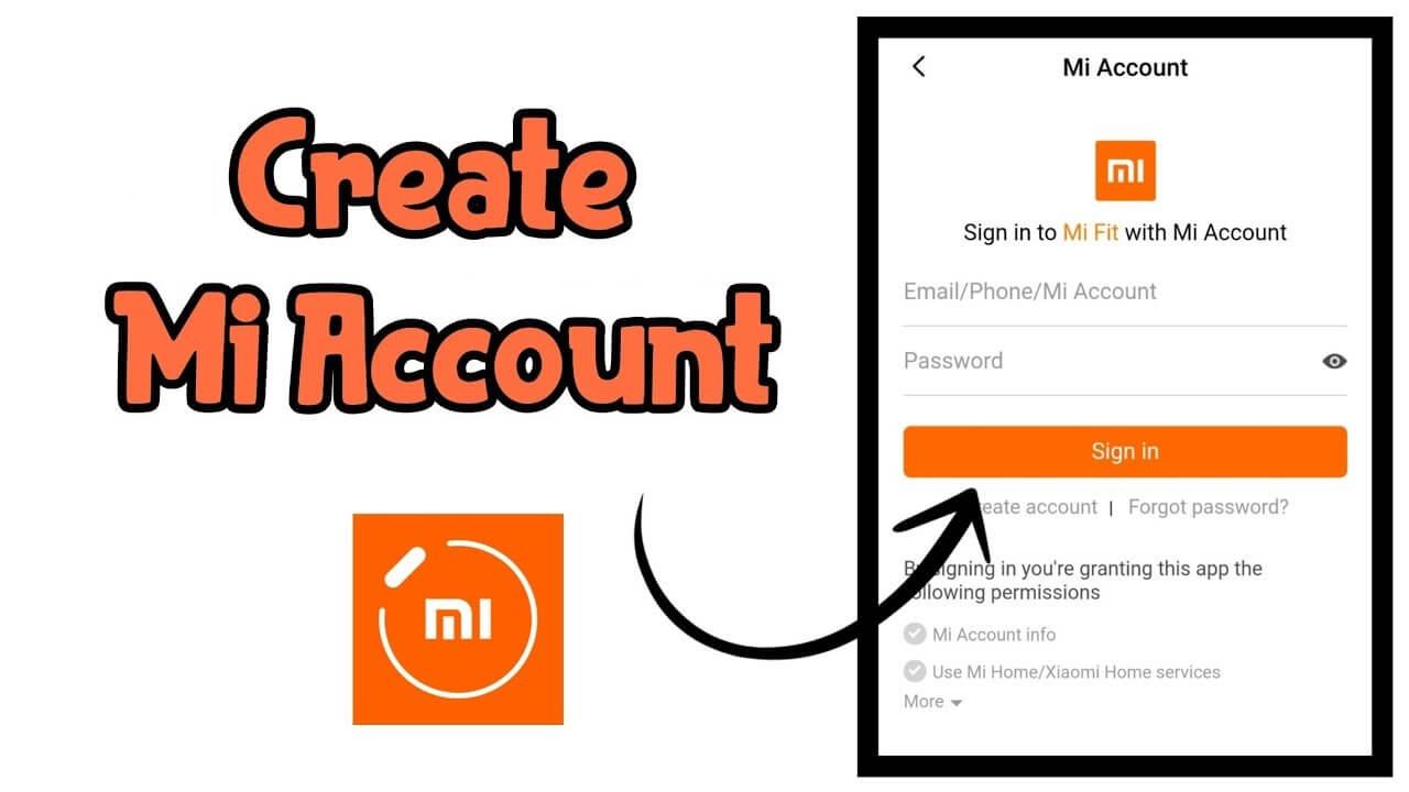 Create Mi Account 1