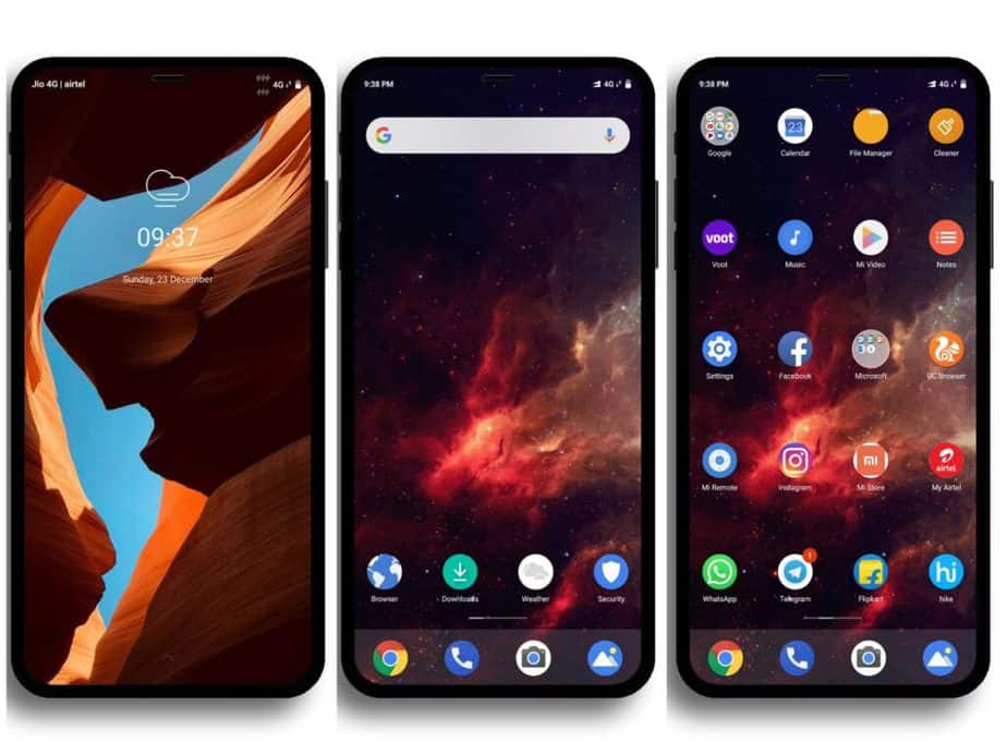 Android One Xiaomi theme